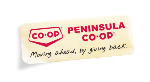 Peninusla Co-op logo sticker