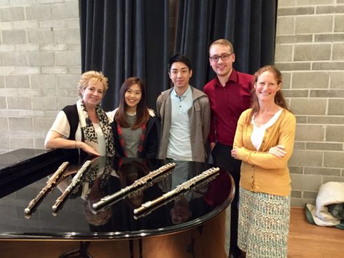 VCM Students Hyein Ji, Thomas Law, Thomas Bauer, and Tina Webber participated in a wonderful masterclass with Susan Hoeppner